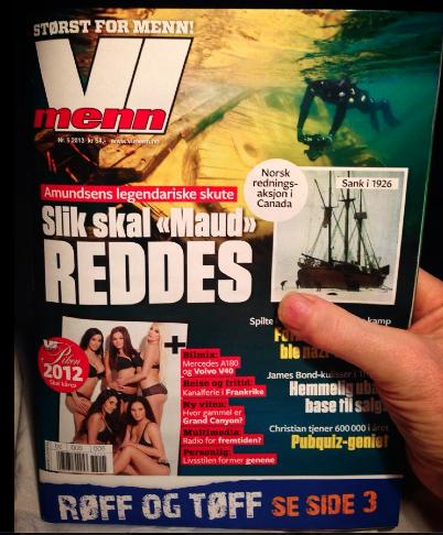 """Reportasje VI MENN: Roald Amundsens polarskute """"Maud"""" skal hjem"""