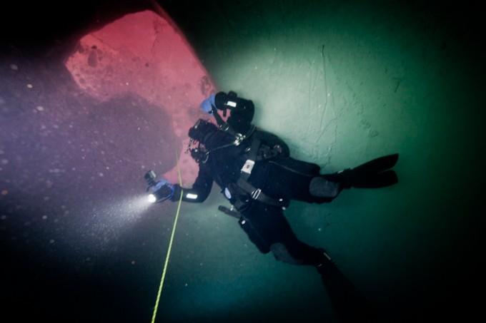 Dykking på Maud - Runhild under isen