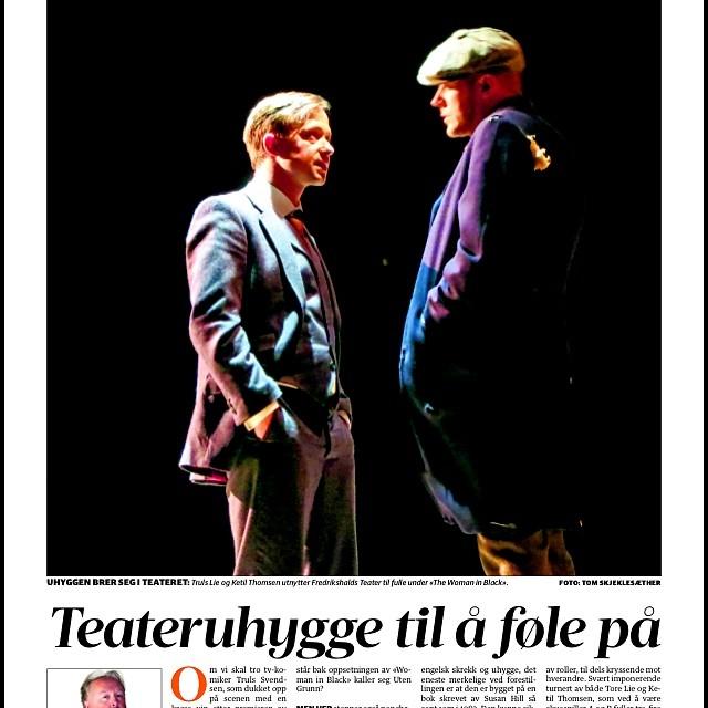 Foto fra avisside HA, Halden teater.