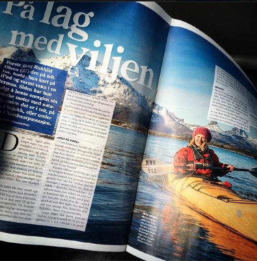 Runhild på eventyr, på lag med viljen. Foto Villmarksliv