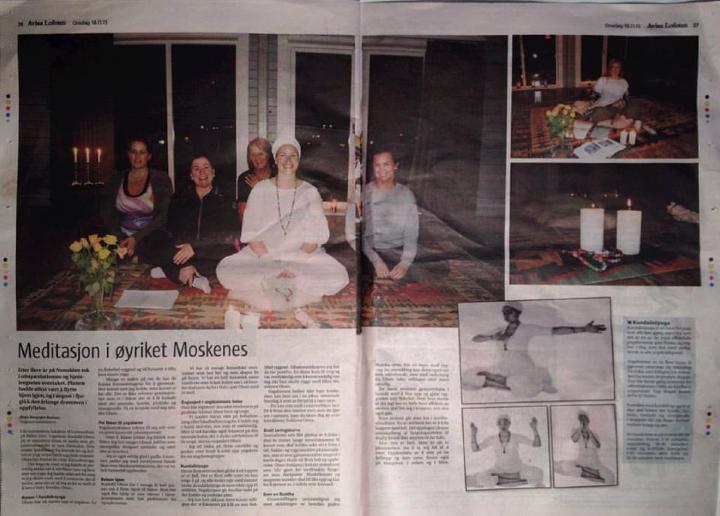 Avisa Lofoten, meditasjon i øyriket moskenes, kundalini yoga lofoten